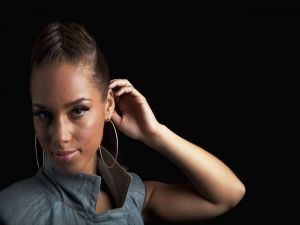 The beautiful singer Alicia Keys