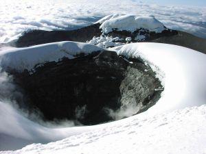 Crater of Cotopaxi volcano, Ecuador
