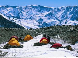 Camp on Aconcagua (Argentina)