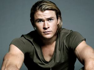 The muscles of Chris Hemsworth