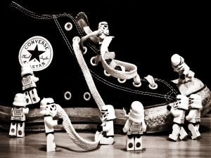 Converse with Star Wars soldiers