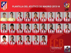 Team squad 2013-2014 Atlético de Madrid