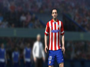Juanfran, player of Atlético de Madrid in the FIFA videogame
