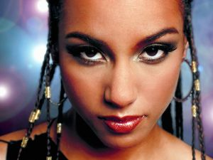 Alicia Keys with braids in her hair