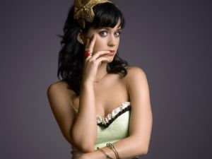 Katy Perry, with a strawberry ring