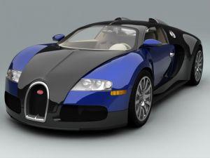 Bugatti Veyron in blue