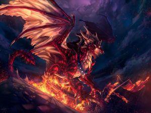 The raging dragon