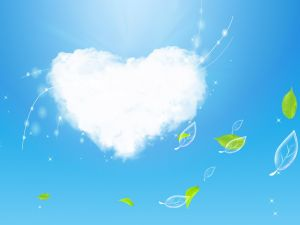 Cloud of heart
