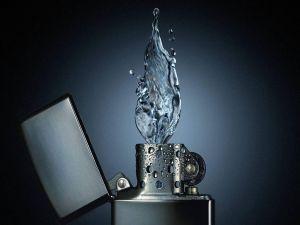 Zippo of water