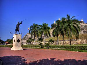 Statue of Blas de Lezo in Cartagena de Indias