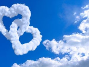 Hearts of clouds