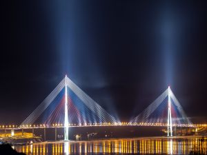 Russky Bridge in Vladivostok