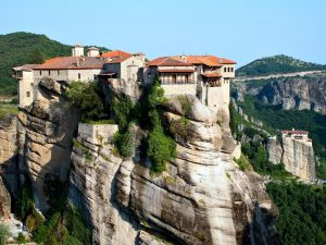 Orthodox Monastery of Varlaam, on the rocks of Meteora (Kalabaka, Greece)