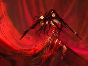 Lady of red