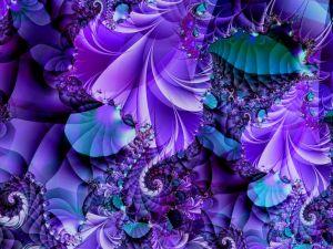 Blue and violet fractal