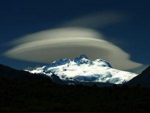 Lenticular clouds over Cerro Tronador, Argentina