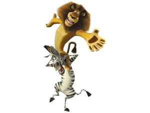 "Lion and zebra of ""Madagascar"""
