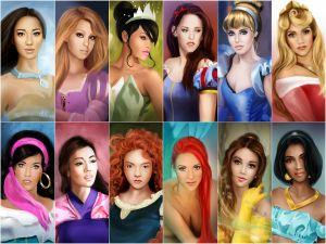 Disney Princesses (by Marta De Winter)