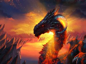 Great dragon of fire