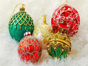 Balls for decoration in Christmas