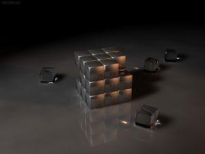 Rubik's Cube in crystal