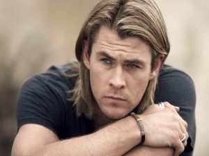 Chris Hemsworth pensive