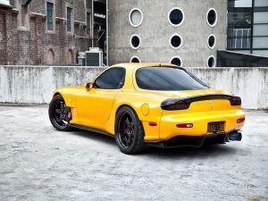 Yellow Mazda