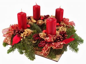Advent wreath for Christmas and New Year