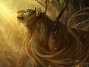 Lioness with long hair