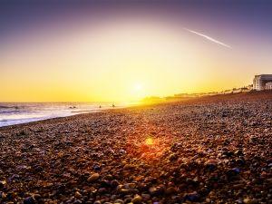 Sunset in Brighton Beach