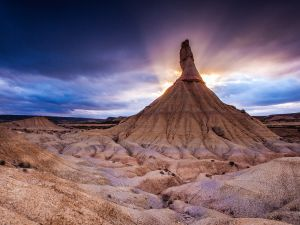 Bardenas Reales National Park, in northern Spain