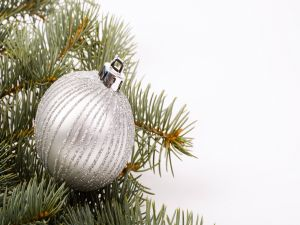 Christmas ornament in silver color