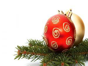 Red ball for Christmas