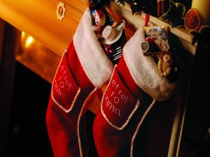 Christmas boots with gifts