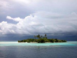 An island in the ocean