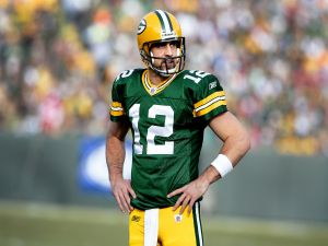 Aaron Rodgers, quarterback for the Green Bay Packers