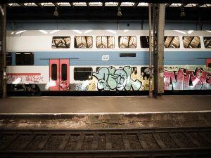 Graffiti on a train carriage