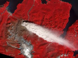 Effect of a volcano from space