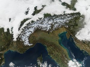 The Alps from space