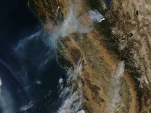 Fires seen from space