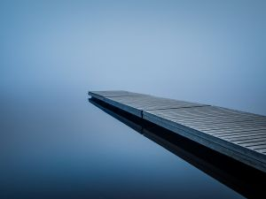 Footbridge on the water