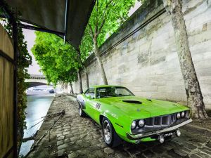 Plymouth Barracuda, green colour