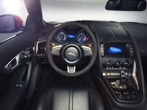 The interior of a Jaguar