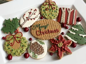 Beautiful cookies decorated for Christmas