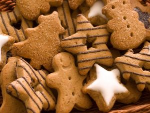 Christmas cookies with ginger and cinnamon
