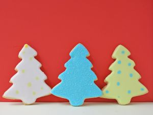 Christmas trees made of cookie