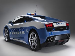 Lamborghini Gallardo, police car in Italy