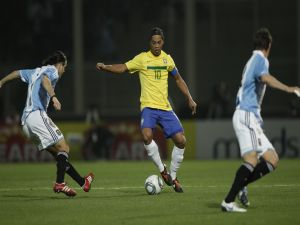 Ronaldinho, number 10 with Brazil