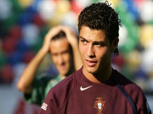 Cristiano Ronaldo in the shirt of Portugal