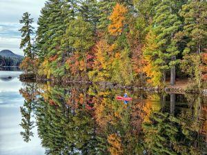 Canoe ride in calm waters